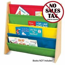 Colorful Wooden Book Rack Kids Toddler Room Organizer Shelf Library Daycare Read