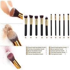 10tlg Pinsel Professionelle Make up Kosmetik Brush Kit  Pinsel-Set Schminkpinsel