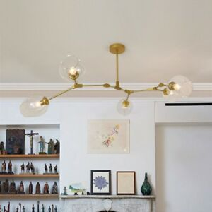 Modern Flush Mount Ceiling Light Gold Chandelier Lighting Kitchen Pendant Light