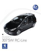 Peugeot 307 SW RC-Line Prospekt Autoprospekt brochure prospectus broschyr Auto