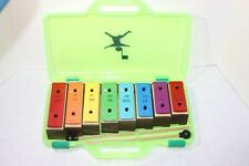 Rainbow Colored Xylophone with Case and 2 Mallets - 8 Tone Blocks - Very Cool