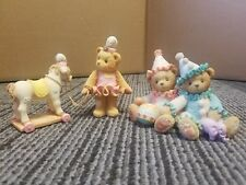 Cherished Teddies x2 Figurine set Palmer and Charlene and Tonya Good Condition