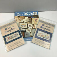 Hilton Head Cross Stitch Lot of 2 Oberlin Samplers + Jeanette Crews At the Shore