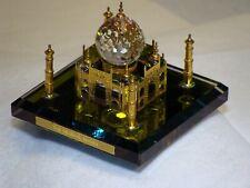 Taj Mahal Miniature  - Multicolor Crystal and Gold