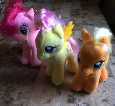 "Lot of 3 MY LITTLE PONY Hasbro 7"" Stuff Animal"