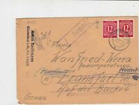germany 1946 allied occupation stamps cover ref 18697