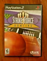 STRIKE FORCE BOWLING – PLAYSTATION 2 (PS2) – VIDEO GAME – COMPLETE!