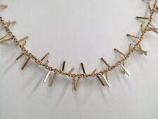 """Vicenza Silver Sterling 18"""" Polished Fringe Design Station Necklace, 8.1g Rose"""