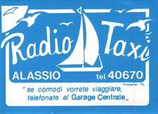 """ADESIVO VINTAGE """" RADIO TAXI ALASSIO """" GARAGE CENTRALE  C9-1228"""
