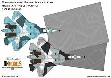 Splinter Camo Paint Masks for Russian Sukhoi T-50 PAK-FA 1/72 FREE Shipping