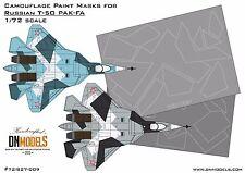 Splinter Camo Paint Masks for Russian Sukhoi T-50 PAK-FA 1/72 FREE Shipping