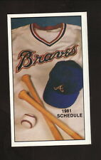 Atlanta Braves--1981 Pocket Schedule--Coke