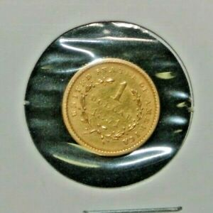 1851 Type 1 G$1 Gold Dollar Us Coin VF/XF