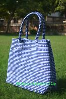 Women Satchel Purse Lady Indian Mandala Tote Bag Block Printed Handbag Cotton