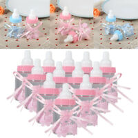 12X Baby Shower Fillable Candy Bottles Box Boy Girl Christening Party Favor HOT