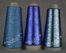 3 conos Azul Lurex Brillo Metálico Máquina Hilo De Punto Sparkle Brillo Glitz Fino