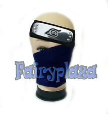 anime naruto hatake kakashi NINJA cosplay blue mask & headband cosplay 2pcs/set