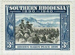 SOUTHERN RHODESIA 1940 SG57 3d. RHODES MAKES PEACE  -  MNH
