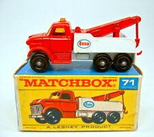 Matchbox RW Nr. 71C Ford Wreck Truck rare ORANGE Scheiben in Box