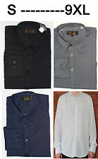 Mens Long Sleeve Shirt Formal Casual Size S- 9XL Outsize Plus Size 4 Col(Stripe)