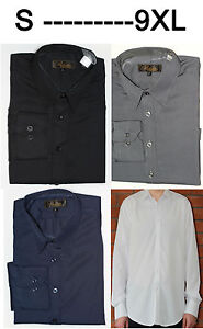 Mens Long Sleeve Shirt Formal Casual Size S- 9XL Outsize Plus  4 Col(Stripe) #2