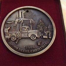 2000 JOHN DEERE TRACTOR CHRISTMAS ORNAMENT RARE