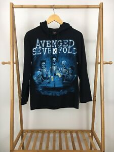 RARE Avenged Sevenfold Welcome To The Family Black Light Hoodie Size S