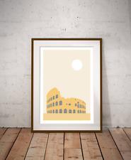 Rome - The Colosseum Minimalist Art Print, Italian Capital, World Travel