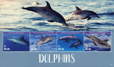 Palau 2018 MNH Dolphins Spinner Striped Dolphin 4v M/S Marine Animals Stamps