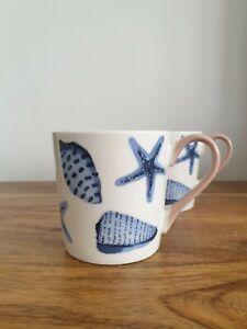 John Lewis Fine China Mugs Seashells Design . BNWT