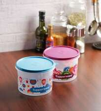 Tupperware Store All printed Airtight Canister Medium Container 1.2 Ltr.-1 Piece