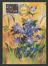 GREECE MK 1989 FLORA WINDRÖSCHEN MAXIMUMKARTE CARTE MAXIMUM CARD MC CM d6228