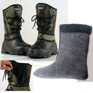 Man antiskid Fleece linning Camo Waterproof boot Ski Snow Boots Fishing Shoes