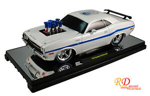 1970 Dodge Challenger Ground Pounders 75th Anniversary White 1:18 Scale by M2