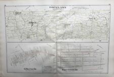 ORIGINAL 1893 MONTGOMERY COUNTY, PA, DOUGLASS, EAST GREENVILLE, PLAT ATLAS MAP