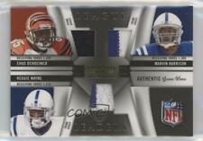 2009 Playoff National Treasures Trios Materials Prime /25 Chad Johnson #15 HOF