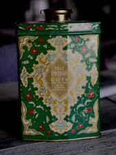 Vintage 20's/30's Emeraude by Coty Talc Dusting Powder 3.70oz Tin Rare