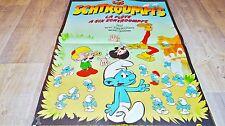 les schtroumpfs LA FLUTE A SIX SCHTROUMPFS ! affiche peyo animation bd 1976