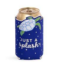 Vera Bradley Drink Hugger TURTLE SPLASH Dot Blue Koozie NWT New UPC:825466974210