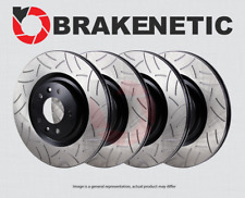 [FRONT+REAR] BRAKENETIC PREMIUM GT SLOTTED Brake Disc Rotors BPRS88707