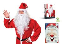 Accessory Fancy Dress Xmas Santa Claus Father Christmas Wig Beard White Eyebrows