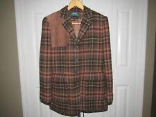 Vtg Ralph Lauren Plaid Wool Hunting Shooting Jacket size 4