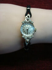 VINTAGE LADIES BULOVA DIA. WRISTWATCH -14K WHITE GOLD CASE/23 JEWEL MVMT-AMAZING
