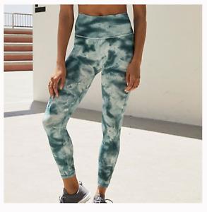 NEW Free People Movement High-Rise Good Karma Legging in Aqua Tie Dye XS-L $110