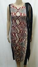 PRADA WOMENS DRESS SNAKE PHYTON SKIN DESIGN COCKTAIL BUSINESS SUMMER NEW W/ TAGS