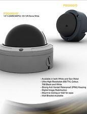 """1/3""""HAD sensor de Sony 5-50mm 600 TVL12v Blanco IP66 de cúpula de metal Vandalismo CCTV Exterior"""