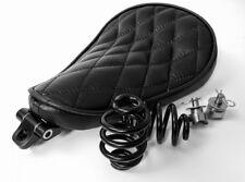 Solo Kit De Cuero Negro De Asiento Muelles & Soporte Resistente Harley Chopper Bobber