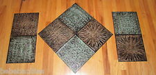 3 Pc Metal Wall Hanging Sculpture Decorative Tuscan Art Indoor Outdoor Home NEW