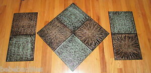 Large 3 Pc Metal Wall Hanging Sculpture Tuscan Art Indoor Outdoor Home Decor NEW