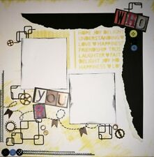 handmade scrapbook page 12 X 12 Who You Are Layout